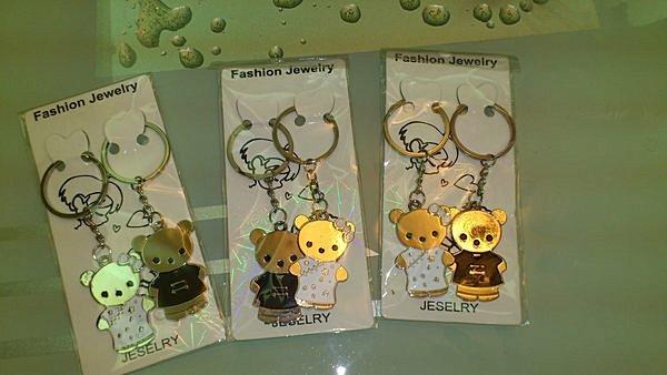 可愛熊鑰匙圈(雷射卡裝OPP袋包裝)