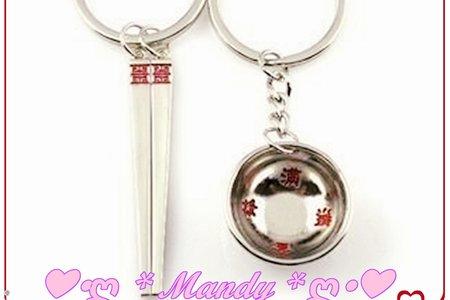 #可愛迷你碗筷對組鑰匙圈#情侶熊鑰匙圈