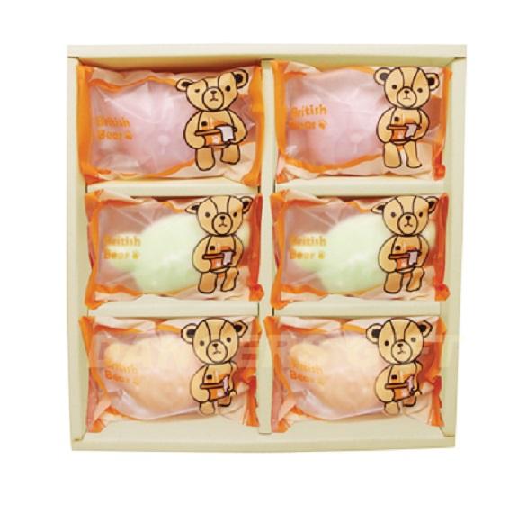 英國熊造型皂6入 沐浴香皂
