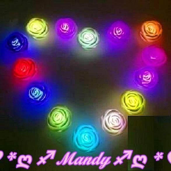 玫瑰花燈/LED多色玫瑰花燈/七彩蠟燭