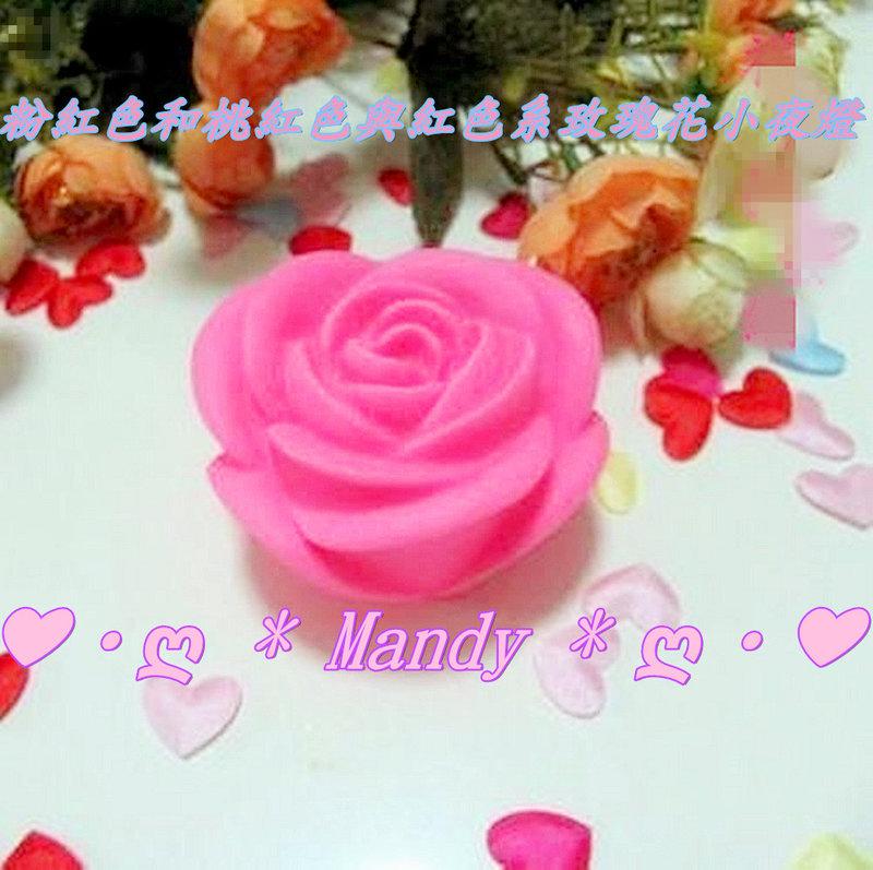 粉紅和桃紅與紅色系/七彩玫瑰求婚夜燈