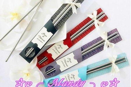 日式包裝/緞帶精緻款/不銹鋼筷組