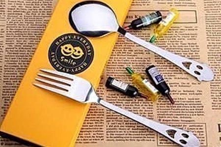 不銹鋼笑臉餐具套裝 杓叉 湯匙叉子贈品