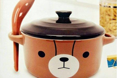 #英國熊陶瓷蓋碗5.5吋(附湯匙)