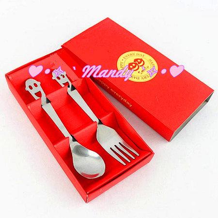 紅色微笑餐具組禮盒 遊戲禮 摸彩禮