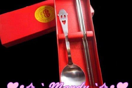 #紅色微笑筷匙 #湯匙 #筷子 #湯叉