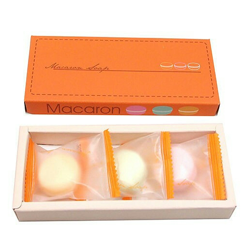 繽紛甜美馬卡龍3入香皂禮盒