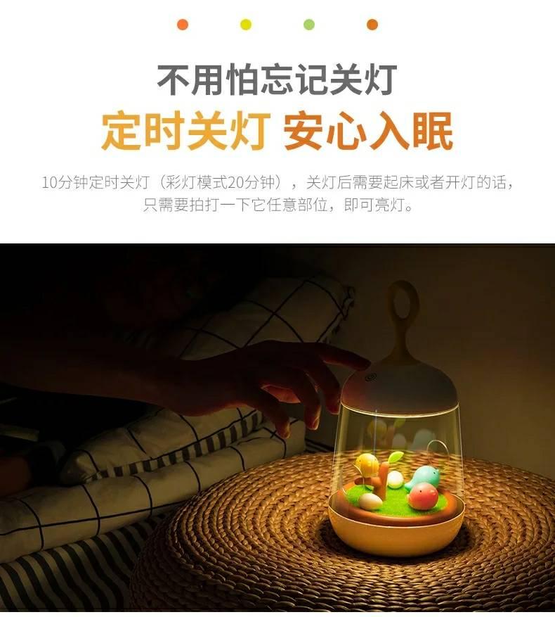 觸碰式燈光LED小夜燈音樂盒 聖誕樹作品