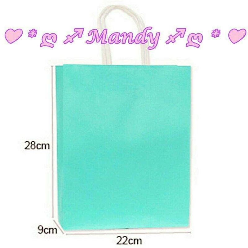 MIT製優質蒂芬妮水藍綠色紙提袋-中號