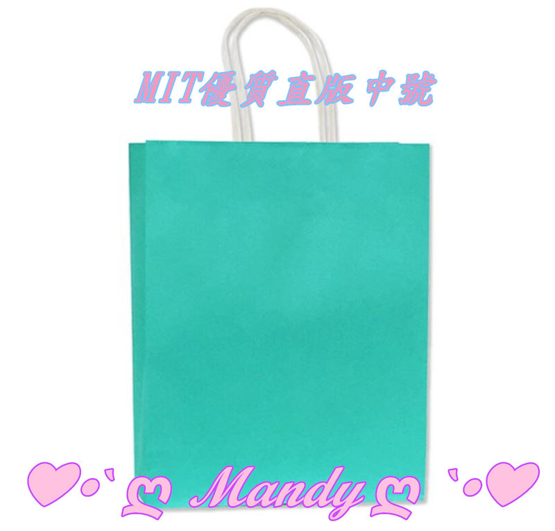 優質蒂芬妮水藍綠色禮品袋MIT製-中號