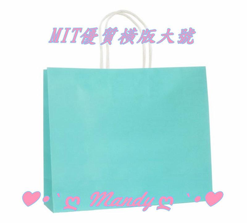 優質蒂芬妮水藍綠色禮物袋MIT製-橫版大