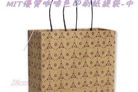 優質高級125P淺咖啡牛皮色印刷紙袋