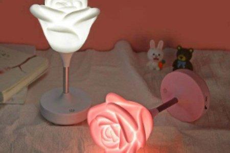 💖超愛慕愛情玫瑰LED觸碰檯燈💖💖