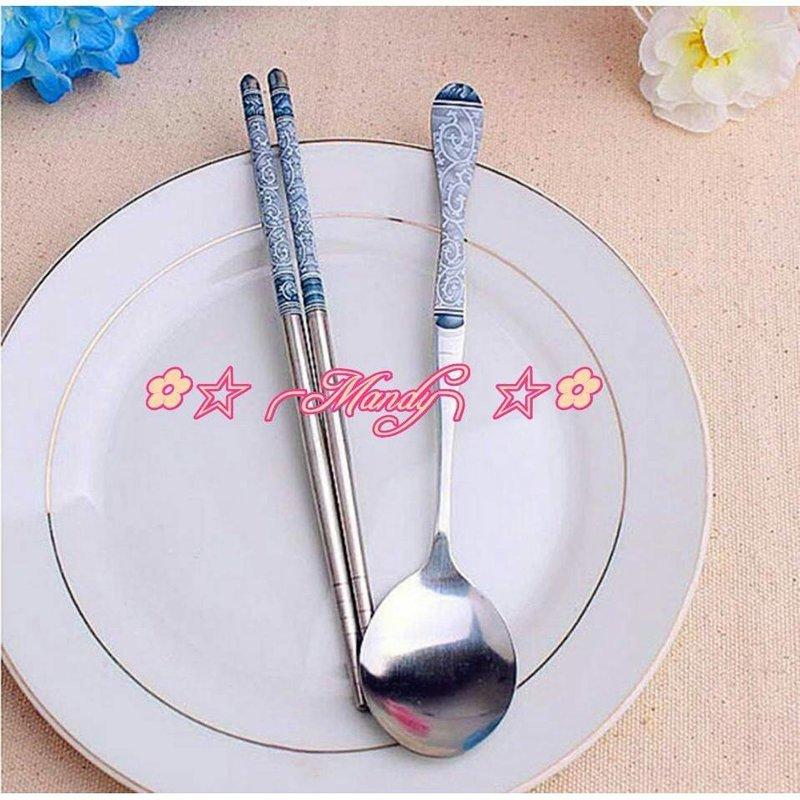 #股東會紀念品 青花瓷圖騰勺筷組筷子勺子