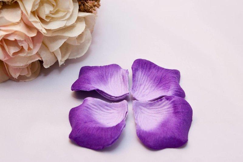 深紫白漸層仿真花瓣