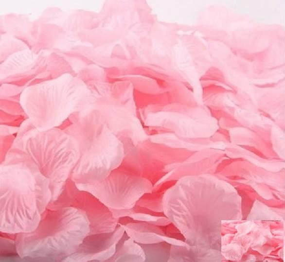 深粉仿真玫瑰花瓣