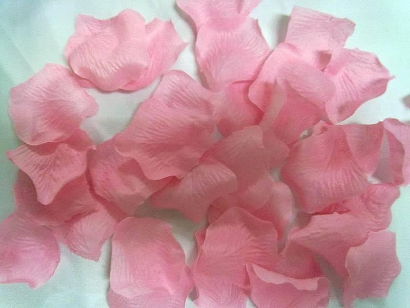 淺粉仿真玫瑰花瓣