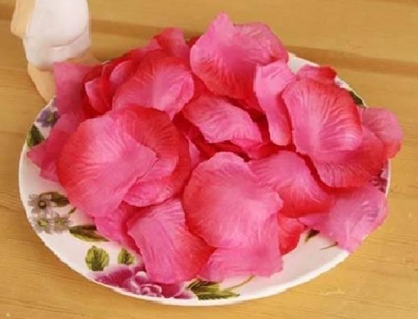 ? 絲布與絹布現貨仿真花瓣-深桃玫漸層