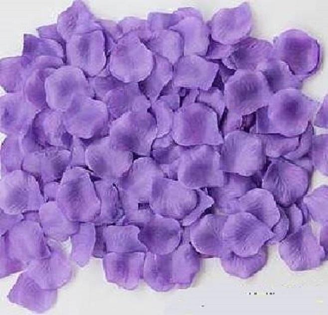 ? 絲布與絹布現貨仿真花瓣-深紫色