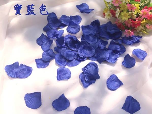 ? 絲布與絹布現貨仿真花瓣-深寶藍色