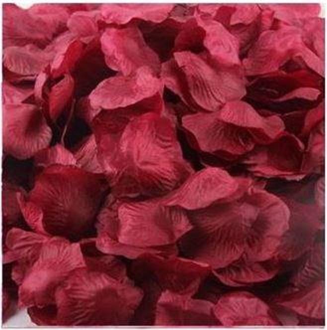 ? 絲布與絹布現貨仿真花瓣-酒紅 ?