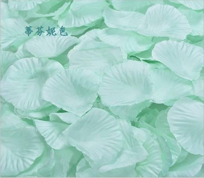 ? 絲布與絹布現貨仿真花瓣-蒂芬妮水藍