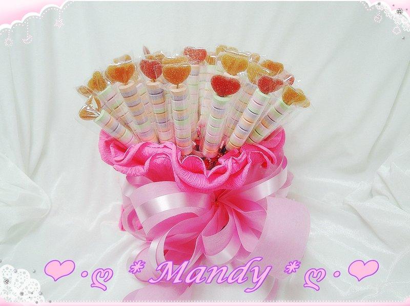 超值大愛心水果軟糖+嗶嗶糖串附贈獨家糖筒