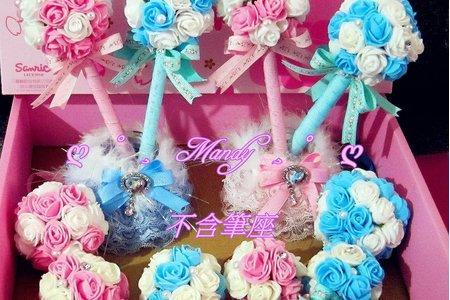 玫瑰花園捧花與手腕花純手工10件組