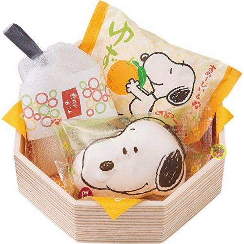 日本進口史奴比Snoopy造型香皂禮-柚