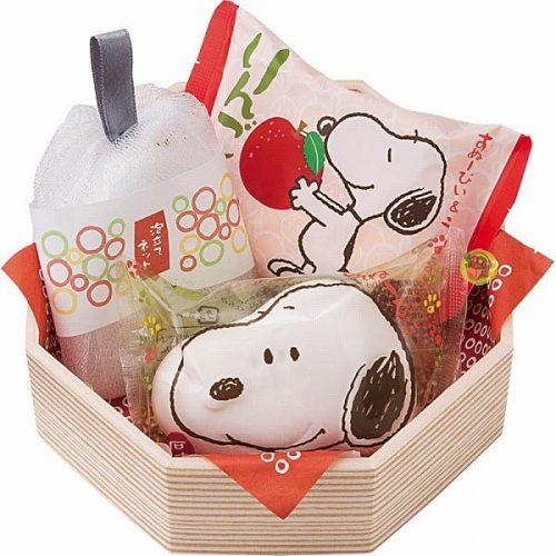 日本進口史奴比Snoopy造型香皂禮-蘋