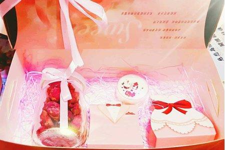 大豆精油蠟燭 玫瑰花茶禮盒