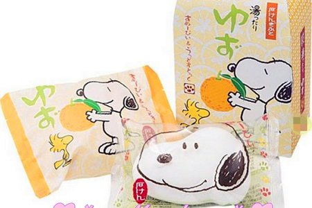 日本進口史奴比牛奶造型香皂組-小