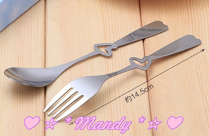 #4款不同精美包裝不銹鋼叉勺餐具禮盒作品
