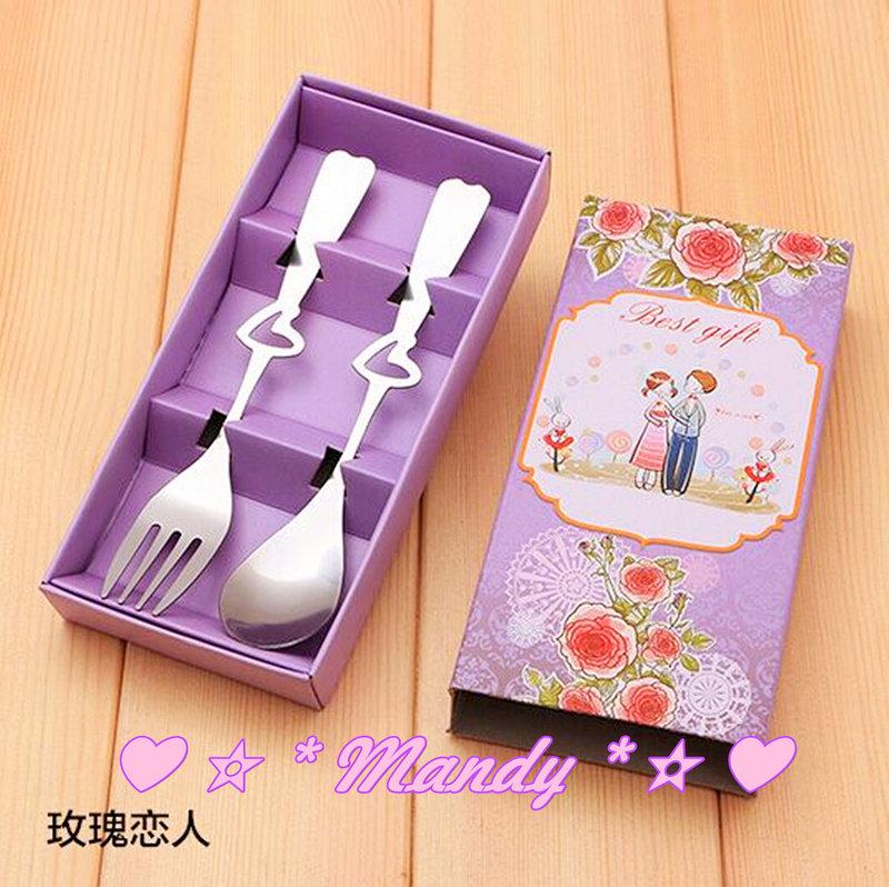 ?#玫瑰戀人-不銹鋼叉勺餐具禮盒?