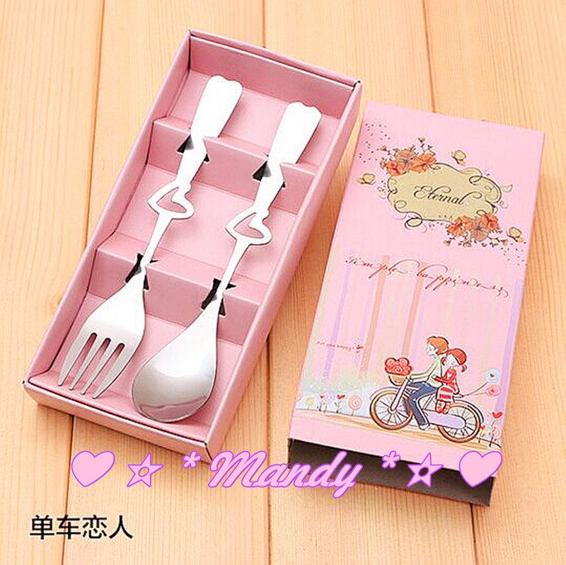 ?#單車戀人-不銹鋼叉勺餐具禮盒?