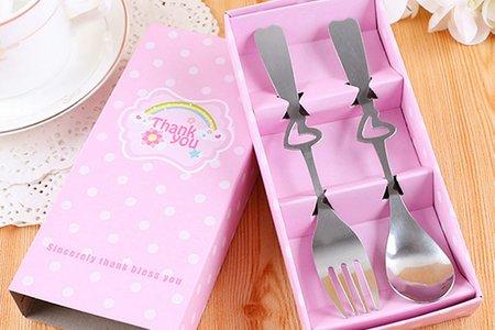 #4款不同精美包裝不銹鋼叉勺餐具禮盒