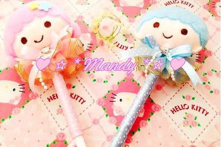 雙子星正版簽名筆 可愛小玉兔子筷架高級禮