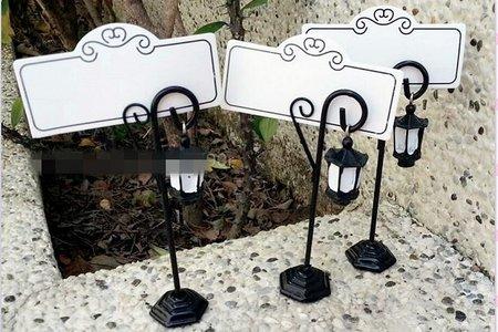 花園吊燈席位夾與可愛盆栽席位夾