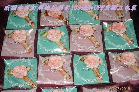 感謝會員訂購梅花筷架100個附OPP袋獨立包裝