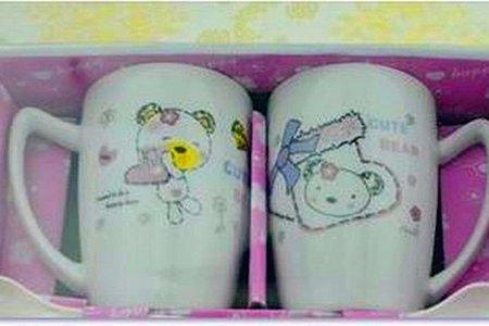 婚禮小物 可愛小熊陶瓷情侶對杯組