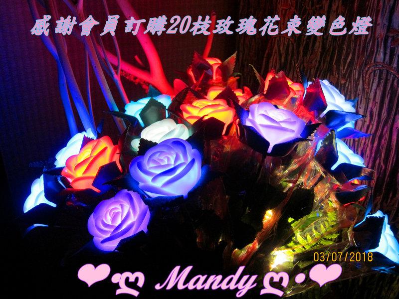 玫瑰花數LED變色燈/玫瑰花束燈/玫瑰花