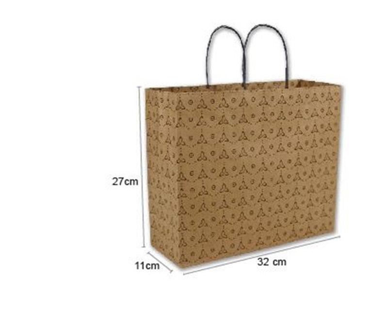 現貨咖啡牛皮色印刷包裝袋 橫式提袋