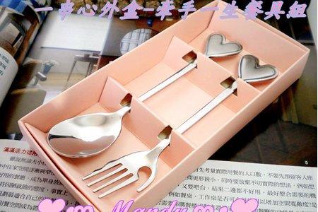 歐美婚禮小物湯叉、勺筷兩件式餐具組