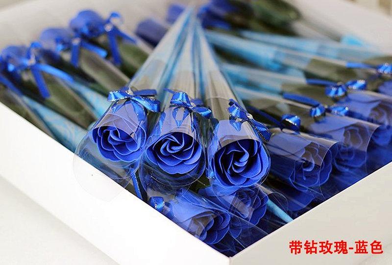 藍色玫瑰花 仿真花 香皂花束(精裝版)