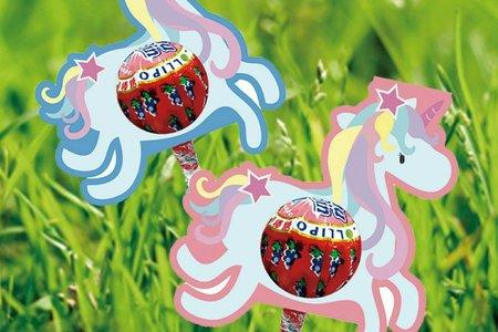 甜蜜獨角獸糖棒 創意禮服棒棒糖