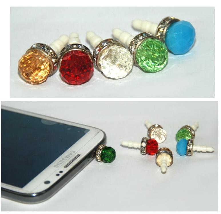 水晶球鑽石防塵塞 顏色隨機出貨