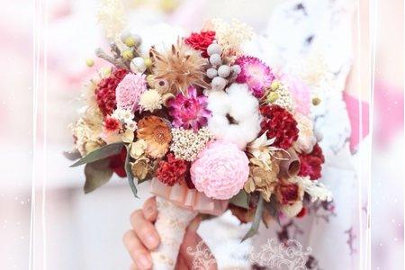 #純手工韓式花束訂製-製作手工乾燥捧花束