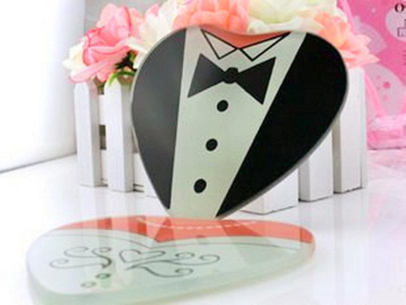 桃心新郎新娘造型杯墊/愛心杯墊 送客禮