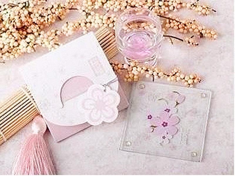 櫻花祈福杯墊 歐美款/婚禮小物/活動贈品