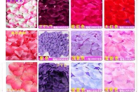 便宜有氣氛絲布與絹布現貨仿真花瓣-19色